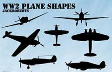 飞机剪影Photoshop自定义形状