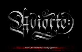 Aviorte 哥特风格英文字体