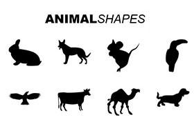 20种动物Photoshop自定义形状