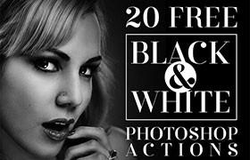 黑白照片效果Photoshop动作