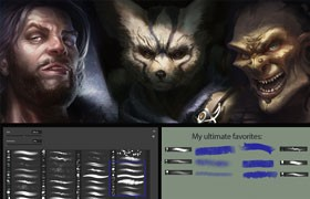 CG原画入门必备Photoshop笔刷
